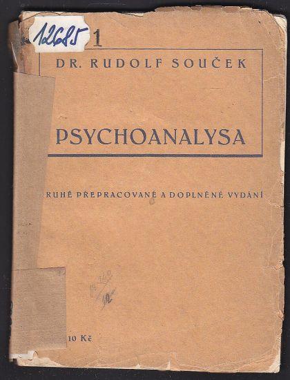 Psychoanalysa - Soucek Rudolf   antikvariat - detail knihy