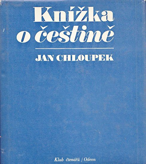 Knizka o cestine - Chloupek Jan | antikvariat - detail knihy