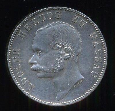 Spol  tolar 1863  Nassau  Adolf - A7984 | antikvariat - detail numismatiky