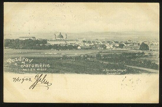 POzdrav z Jaromeric  na draze  Dolni namesti | antikvariat - detail pohlednice