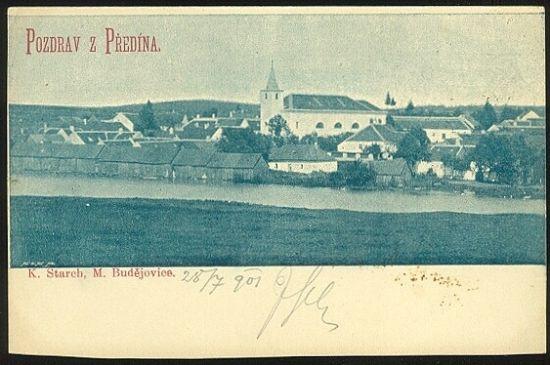 Pozdrav z Predina   antikvariat - detail pohlednice