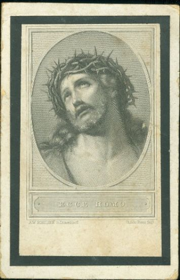 Sv  obrazek  Ecce homo   antikvariat - detail pohlednice
