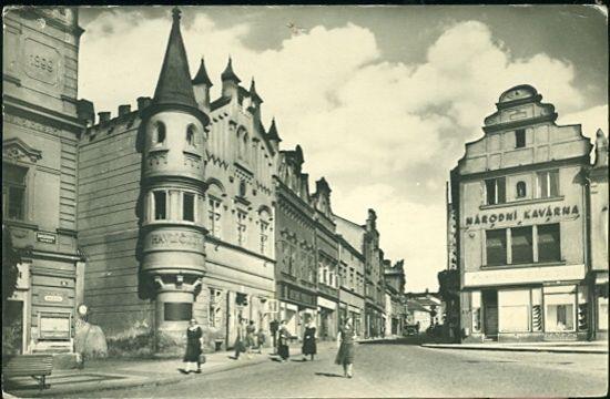 Havlickuv Brod | antikvariat - detail pohlednice