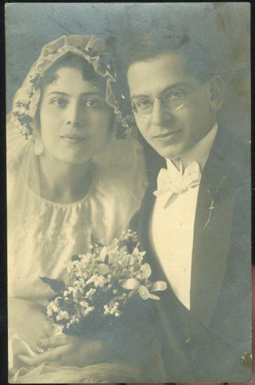 Svatebni fotografie   antikvariat - detail pohlednice