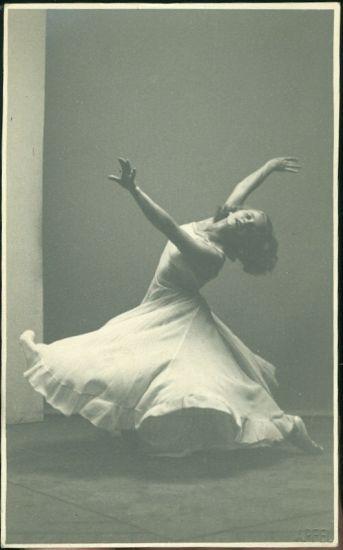 Baletka   antikvariat - detail pohlednice