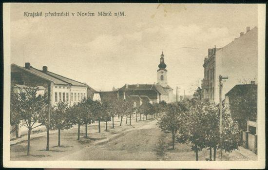 Krajske predmesti v Novem Meste nM | antikvariat - detail pohlednice
